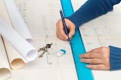 Free Architect At Work Royalty Free Stock Photo - 17354895
