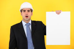 Architect with a blank board Stock Photos