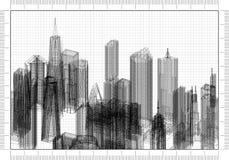Architect Blueprint stock afbeelding