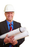 Architect with blueprints Royalty Free Stock Photography