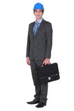 Architect with briefcase Stock Image