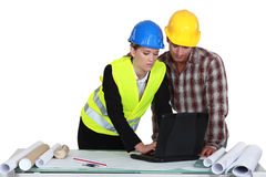Architect and builder Stock Images