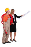 Architect and builder Stock Photography