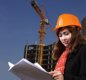 Architect on building area Stock Photos