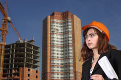 Architect on building area stock image