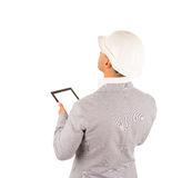 Architect or building inspector using a tablet Stock Photos