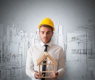 Architect with building project Royalty Free Stock Images