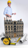 Architect on building renovation Stock Photo