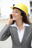 Architect on building site Royalty Free Stock Image