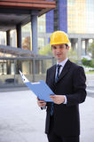 Architect building site Stock Photo