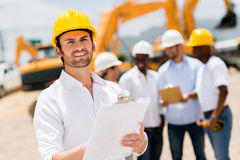 Architect at a building site Stock Photos