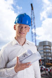 Architect on the building site Stock Image