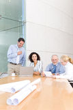 Architect business group meeting Royalty Free Stock Images