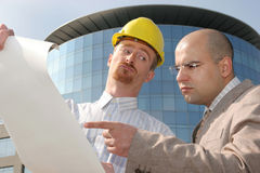 Architect and businessman Royalty Free Stock Photo