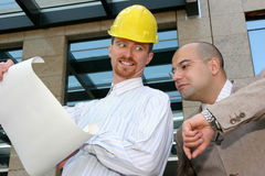 Architect and businessman Stock Photography