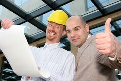 Architect and businessman Royalty Free Stock Photos