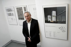 Architect Carlo Baumschlager. The projects of Carlo Baumschlager and Dietmar Eberle,founders of the world- renown Austrian architectural office Baumschlager Stock Photo