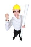 Architect celebrating successful build Stock Image