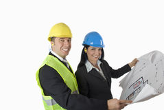 Architect and client Stock Photos