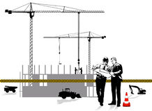 Architect and construction Stock Image