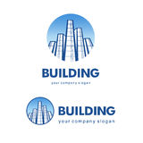 Architect construction concept. Vector logo for building companies Royalty Free Stock Photography