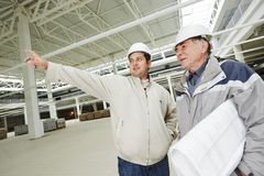 Architect and construction engineer worker Royalty Free Stock Image
