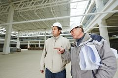 Architect and construction engineer worker Stock Photography