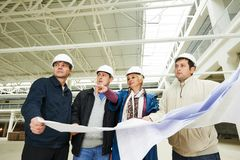 Architect and construction engineers worker Royalty Free Stock Images