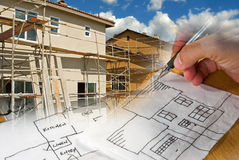 Architect Construction Montage Stock Image