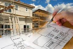 Architect Construction Montage stock image