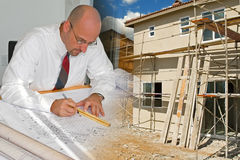 Architect Construction Montage Royalty Free Stock Photo