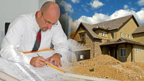 Architect Construction Montage Stock Images