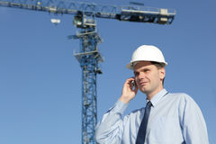 Architect on a construction site Royalty Free Stock Photo