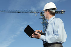 Architect on a construction site Stock Photo