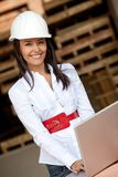 Architect at a construction site Royalty Free Stock Photography
