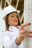 Architect at a construction site Stock Images