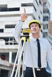 Architect on construction site Royalty Free Stock Photo