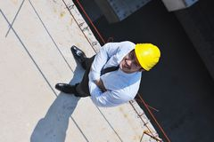 Architect on construction site Stock Photo