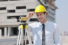 Architect on construction site Stock Image