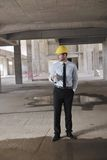 Architect on construction site Royalty Free Stock Images