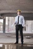 Architect on construction site Stock Images