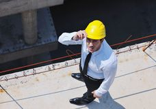 Architect on construction site Royalty Free Stock Photography