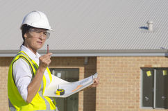 Architect construction site Royalty Free Stock Image