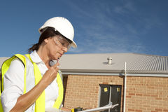 Architect construction site Stock Images