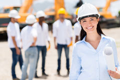 Architect at a construction site Stock Photos