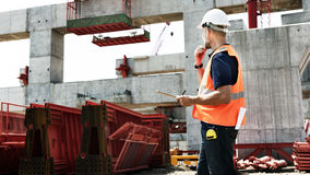 Architect Construction Site Planning Working Concept.  Royalty Free Stock Photo