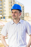Architect at construction site Royalty Free Stock Photo