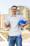 Architect at construction site Stock Photography