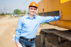 Architect in a construction site Stock Photos