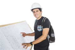 Architect in a construction Stock Images